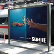 تبلیغات خلاقانه آکواریوم نمایشگاه Sea Life